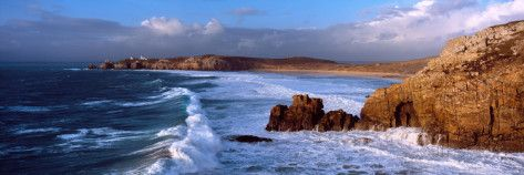 Surf on the Beach, Crozon Peninsula, Finistere, Brittany, France Photographic Print by Panoramic Images - AllPosters.co.uk