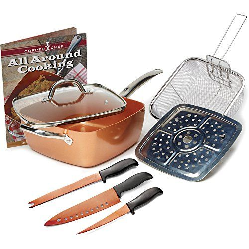Copper Chef 4 pc system, 6 in 1 pan - http://kitchenrecipe.org/product/copper-chef-4-pc-system-6-in-1-pan/