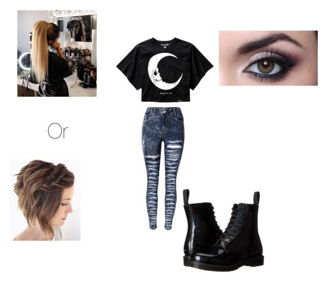 Y/n outfit #2 by the-cheshire-kat on Polyvore featuring Killstar and Dr. Martens