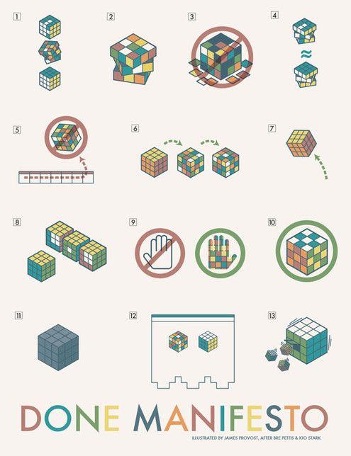 The Done Manifesto: 13 Rules for Maximizing Your Creativity | Man Made DIY | Crafts for Men | Keywords: creativity, talk, philosophy, art