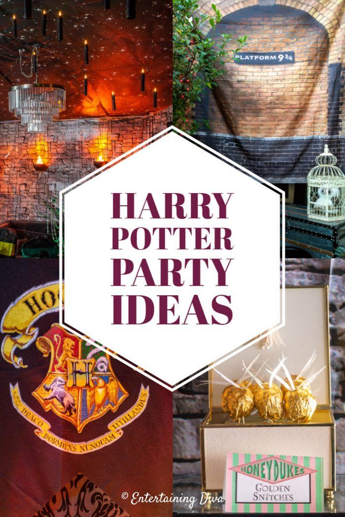 20 Awesome Harry Potter Party Ideas Entertaining Diva From House To Home Harry Potter Halloween Party Harry Potter Party Harry Potter Halloween