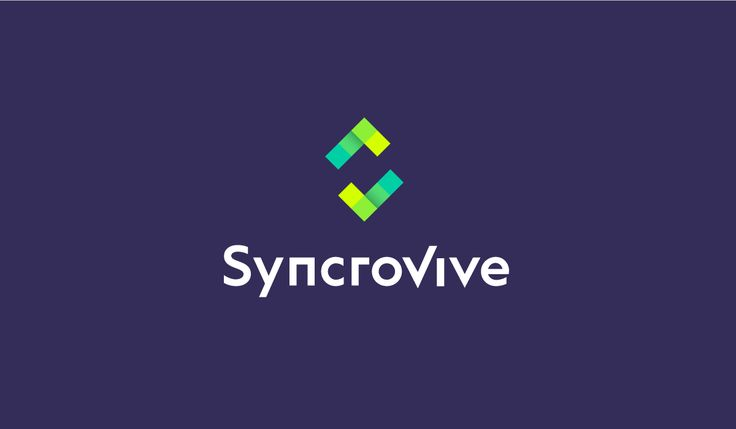 Syncrovive neon logo design. Logo design for a mobile calendar app focused on linking people to find mutual free time to save time planning and help make meeting up more efficient. The SyncroVive logo consists of these symbols: S letter, two V letters, the tick and calendar cells. One of the main things that the logo symbol portrays is the idea of synchronisation.