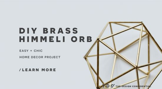 Things I'm pinning for my wife.  Handmade Decor: DIY Faux Brass Himmeli Orb | The Design Confidential