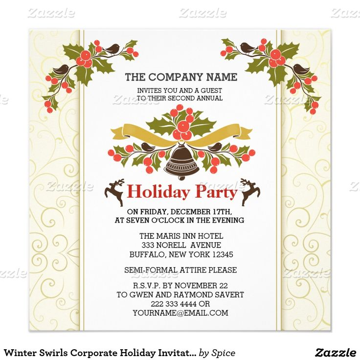 63 best Christmas Party Invitations images on Pinterest | Christmas ...