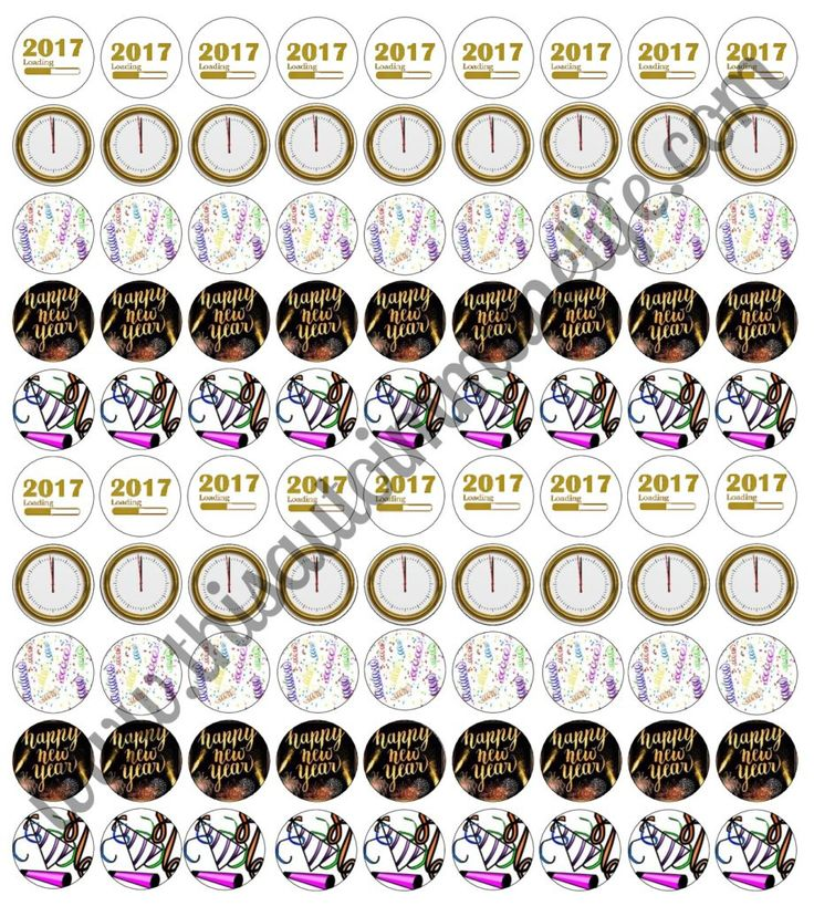 New Year's Eve Hershey Kisses Labels