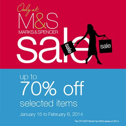 Marks & Spencer Philippines Further Reductions Sale | MEGAstyle.PH