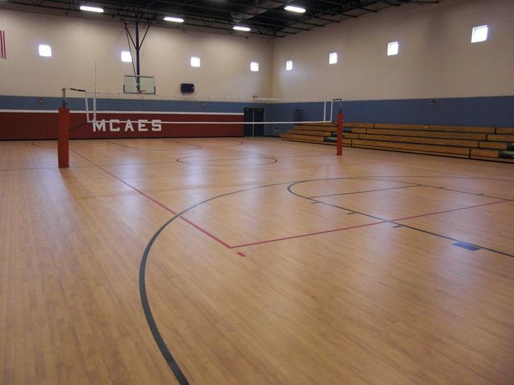 Mt. Carmel Area Elementary School, Mt. Carmel, PA. Tarkett Sports Omnisports 6.5 Installation in Maple