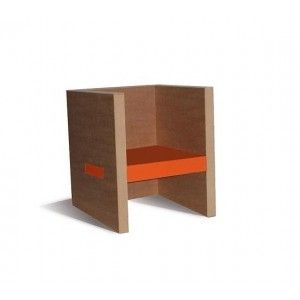 Armchair CUBE small (various colours). Designed by Carton Styl. Available on www.darwinshome.com