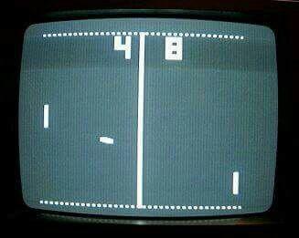 Eerste computerspel pong, speelde je op de tv!