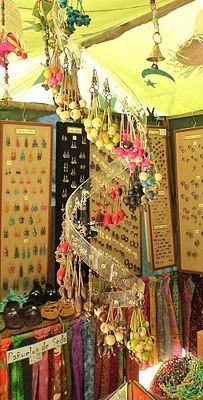 Great idea, what about hanging found items for wind chime.....2 liter plastic bottle cut in a spiral with holes punched in it to make this amazing ear ring display.