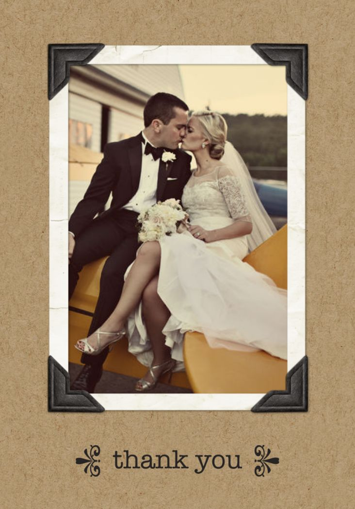 Personalized Wedding Thank You Cards from Mixbook.com
