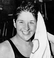 I don't actually remember her swimming, because I was only 2 for her last Olympics, but I love the legendary Dawn Fraser - the last Aussie larrikin!