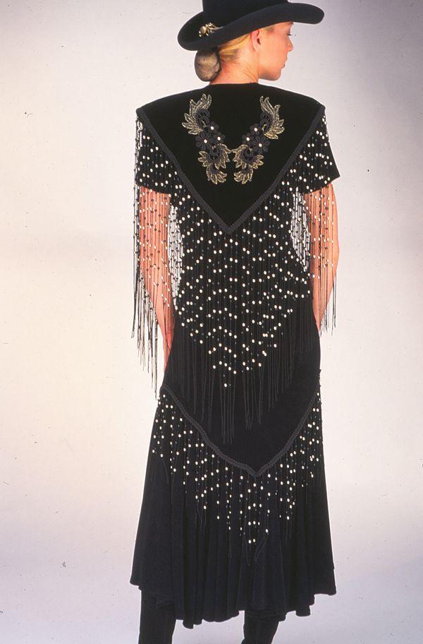 western clothes for women | Western Style Beaded Fringe Applique Overlay: Western Wear | Women ...