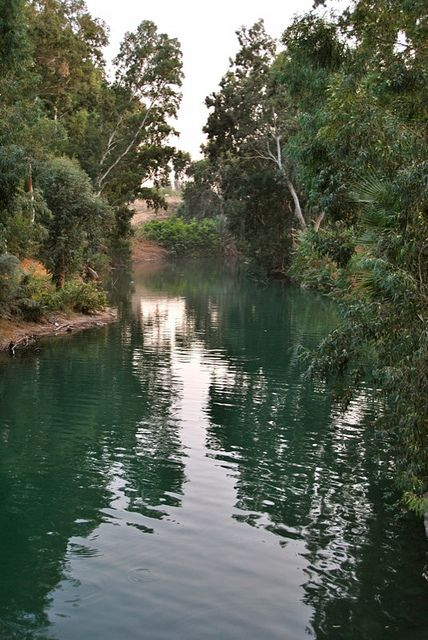 A quiet corner along the Jordan River, near the Sea of Galilee