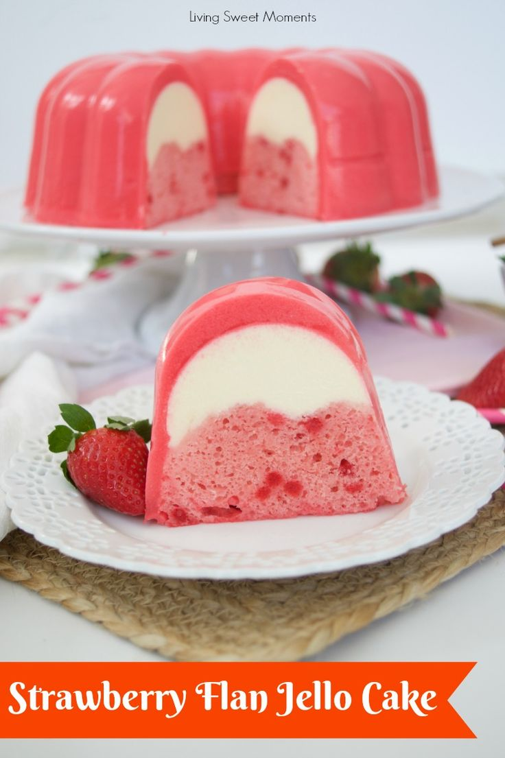 Strawberry Flan Jello Cake Recipe + Let's Talk Money