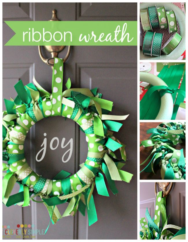 How To Make A Ribbon Wreath Homemade Crafts And Shower