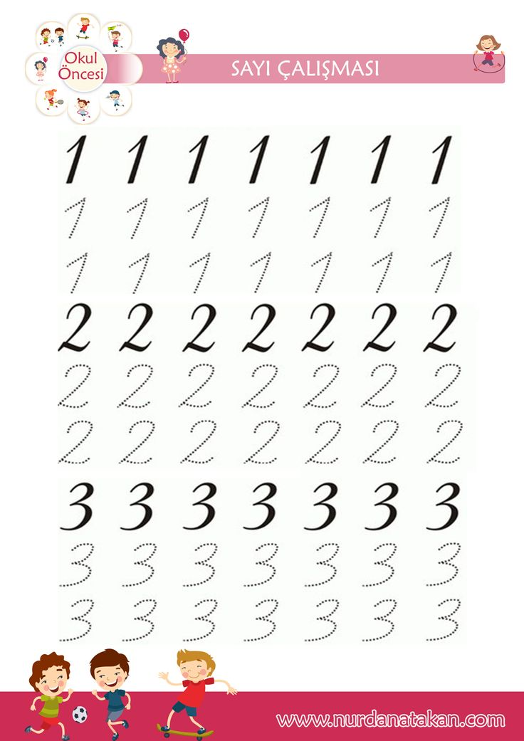 Okul öncesi sayı çalışmaları- 1-2-3 rakam yazma. 1- 10 arası sayma