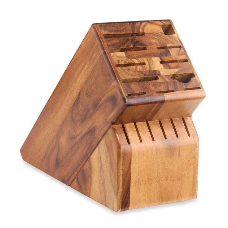 Wüsthof 17-Slot Acacia Wood Knife Block | A beautiful knife block made of Acacia Wood. #wusthof #knife #kitchen #accessories