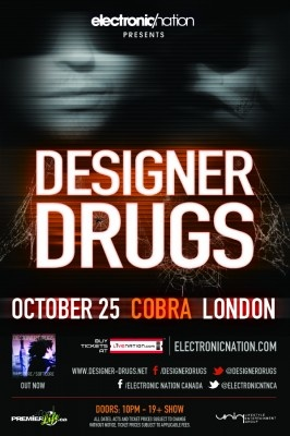 See Designer Drugs Oct 25th in London. www.electronicnation.com