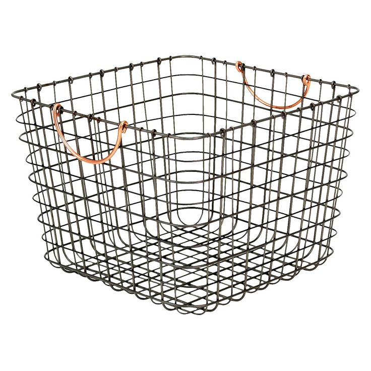 9 best wire baskets images on Pinterest | Storage baskets, Thread ...