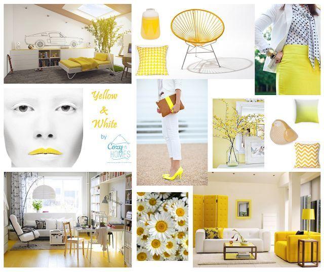Esquemas de cores infalíveis: Amarelo & Branco | Yellow & White