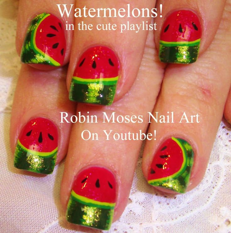 Watermelon Nail Art - Summer Nail Art fun!