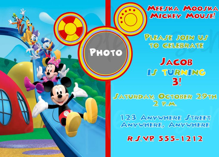 Mickey Mouse Clubhouse Birthday Invitation Aureliou0027s 2nd - mickey mouse invitation template