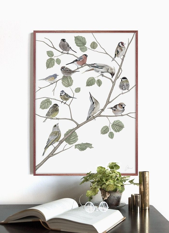 Birds via Jonna Fransson Shop. Click on the image to see more!