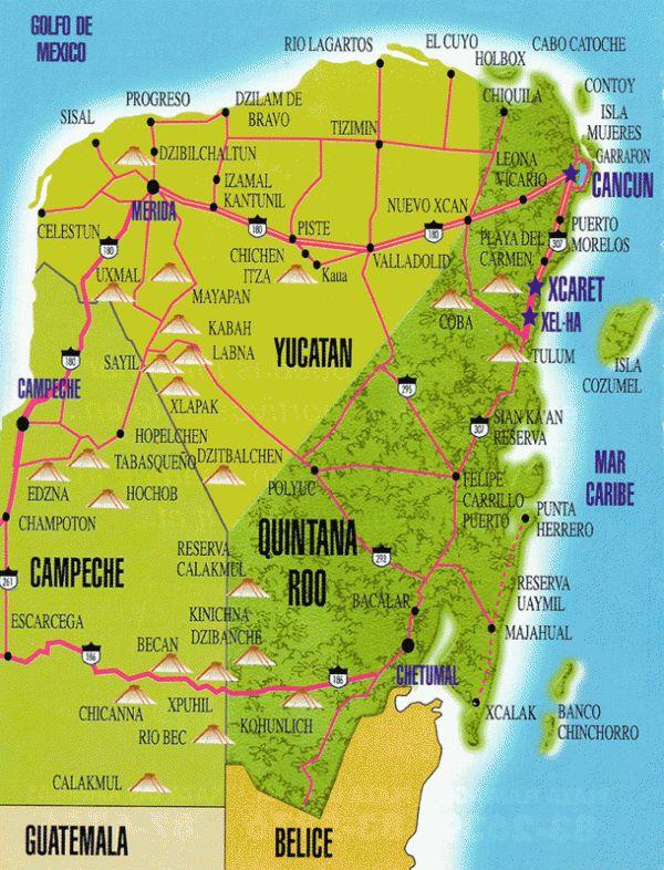 5 plus beaux sites du Yucatan