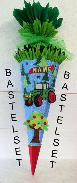 Bastelset+(9)+Schultüte+Traktor+Trecker+von+Hits-for-kids+auf+DaWanda.com