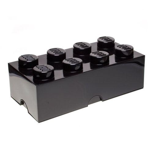 Plast Team LEGO Storage Brick 8 - väri musta