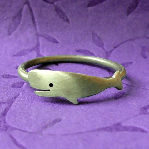 brass whale ring