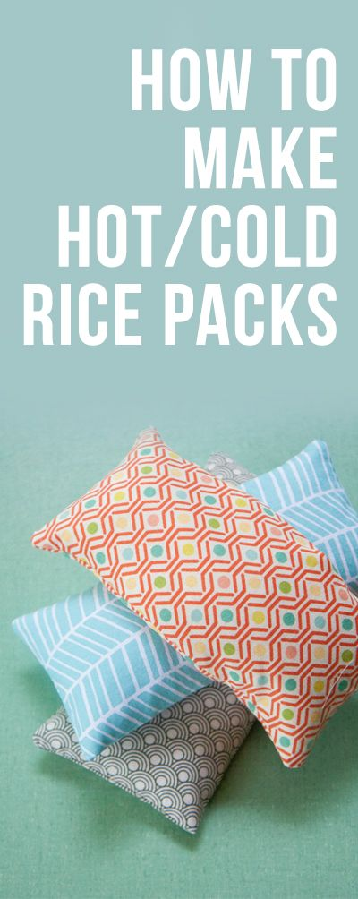 How to Make Hot/Cold Rice Packs  Great for DIY gift giving or for personal use! Easy to follow instructions.