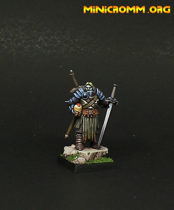 Reaper miniatures Mendevian Crusader.