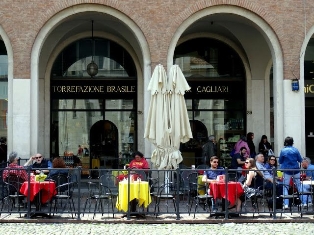 Torrefazione cafe Restaurant on Piazza Grande,  Modena, Italy