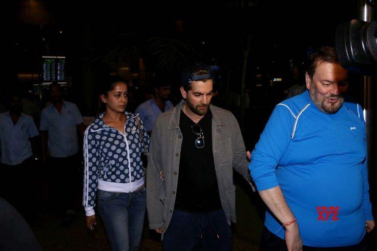 Mumbai: Neil Nitin Mukesh spotted with wife Rukmini at Mumbai airport - Social News XYZ