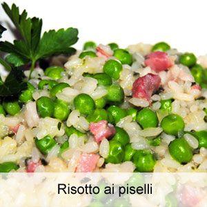 Ricetta risotto con piselli, cipolla e pancetta