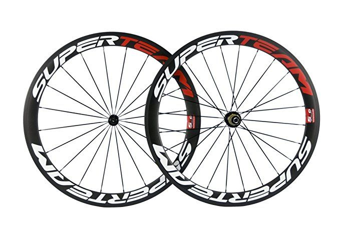 Superteam Carbon Fiber Road Bike Wheels 700c Clincher Wheelset