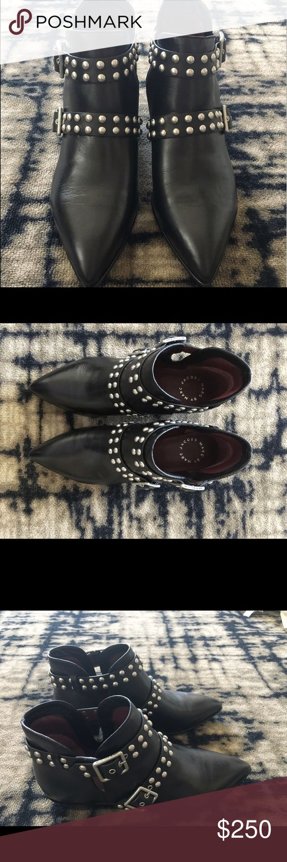 Marc Jacobs studded 2 strap ankle boot Never worn, super cool studded ankle boots. Marc Jacobs Shoes Ankle Boots & Booties