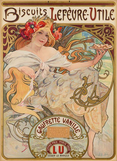 Litografía realizada por  Alphonse Mucha. Realizado por adición