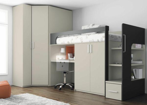 Gestaltung Kleines Kinderzimmer :   Kleines Kinderzimmer Einrichten, Hochbetten und Kuschelecke