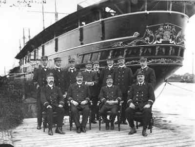 1914, Etat-Major van het Wachtschip Hr.Ms. Buffel.
