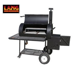 Waiting on my baby to get here, Lang 48 Patio model smoker cooker grill