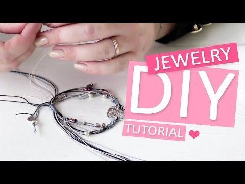 DIY: Armband met metaal DQ tussenstuk deco - zelf sieraden maken tutorial - YouTube
