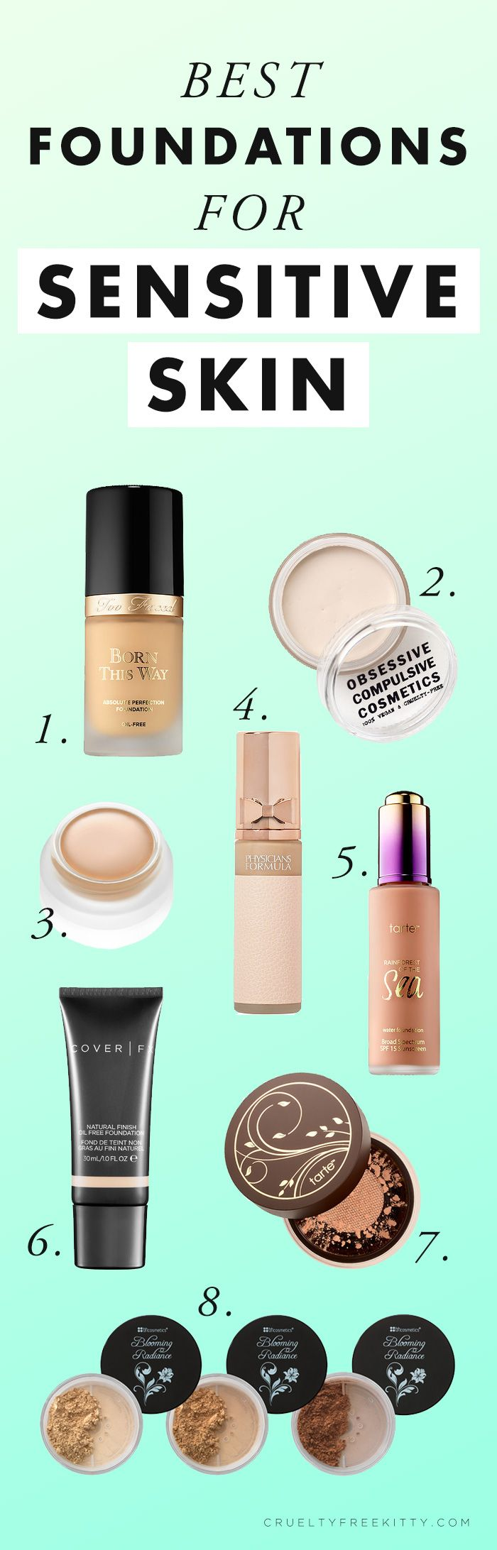 The 8 Best Foundations for Sensitive Skin (No Irritation