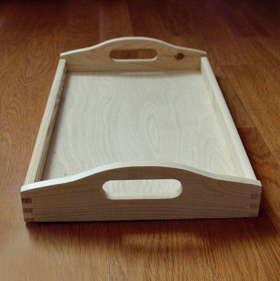 Breakfast Tray  Wood Serving Tray  Decorative Wooden Tray