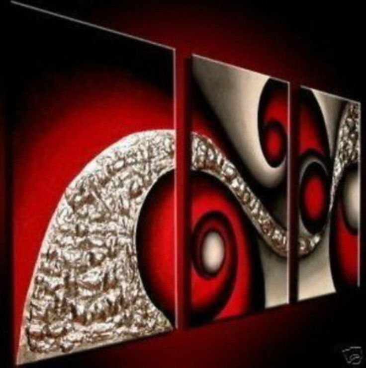red u0026 gold abstract 3 piece wall art free shipping u0026 framed