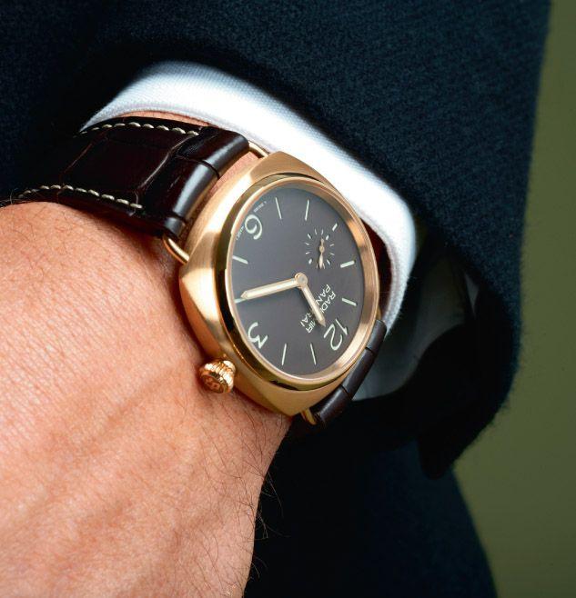 Panerai Radiomir in gold, perfect dress watch.