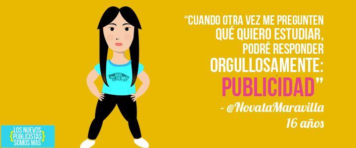 ¿Por qué quiero estudiar Publicidad? - @NovataMaravilla http://losneopublicistas.com/blog/por-que-quiero-estudiar-publicidad/