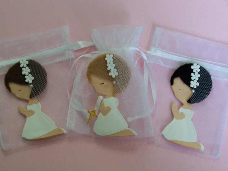 First Communion, baptism, confirmation Little Girl party favor bags 10 pieces. $25.00, via Etsy.